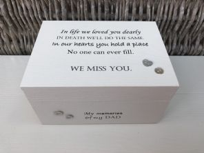 Personalised In Memory Of Box Loved One ~ DAD ~ FATHER any Name Bereavement Loss - 232739871754